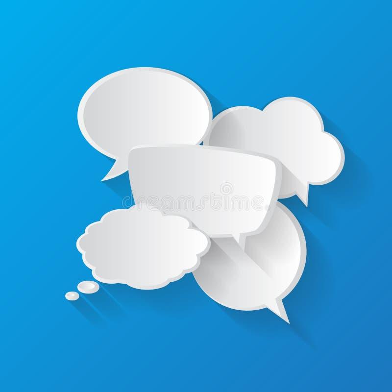 谈话讲话泡影 库存例证