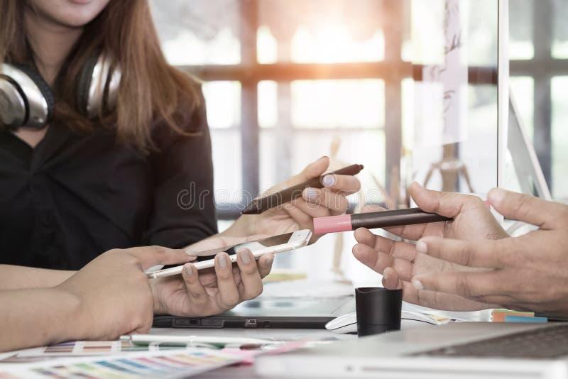 谈话设计师图表创造性的创造性的工作设计arti 免版税库存图片