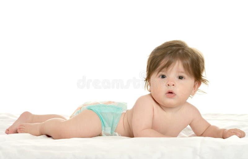 说谎的女婴纵容 库存图片