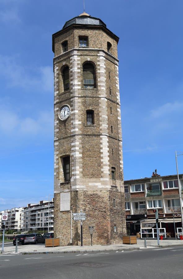 说谎者塔在敦刻尔克,法国 免版税库存照片