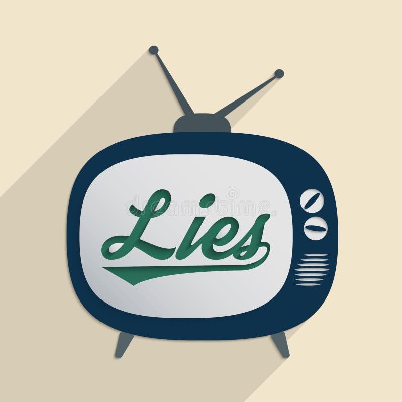 谎言 向量例证