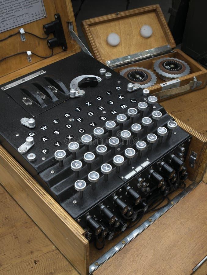 谜加密机器 免版税图库摄影