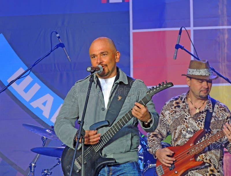 谢尔盖·特罗菲莫夫 昌森2012年莫斯科,卢日尼基 库存图片