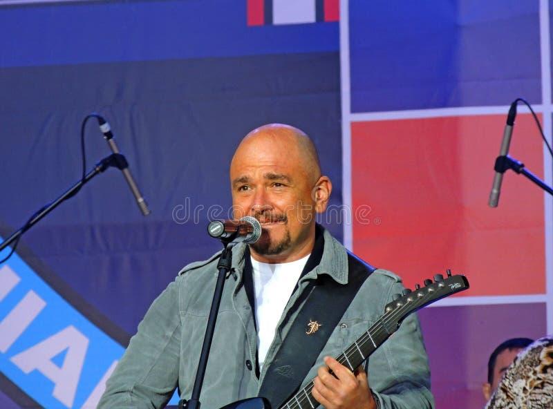 谢尔盖·特罗菲莫夫 昌森2012年莫斯科,卢日尼基 库存照片