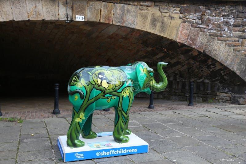 谢菲尔德大象 免版税库存图片