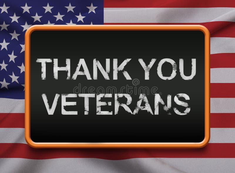 谢谢退伍军人服务美国 皇族释放例证