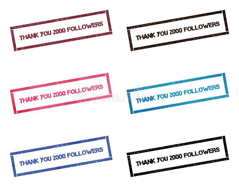 谢谢2000张追随者长方形邮票 皇族释放例证
