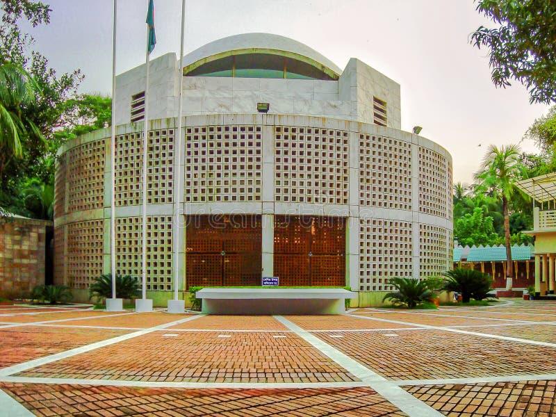 谢赫・穆吉布・拉赫曼陵墓在Tungipara,戈帕尔加恩杰,孟加拉国 库存图片