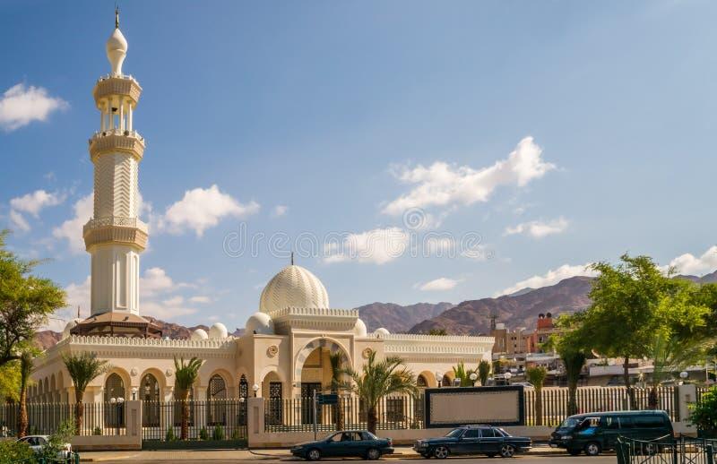 谢里夫侯赛因宾・阿里清真寺在亚喀巴 免版税图库摄影