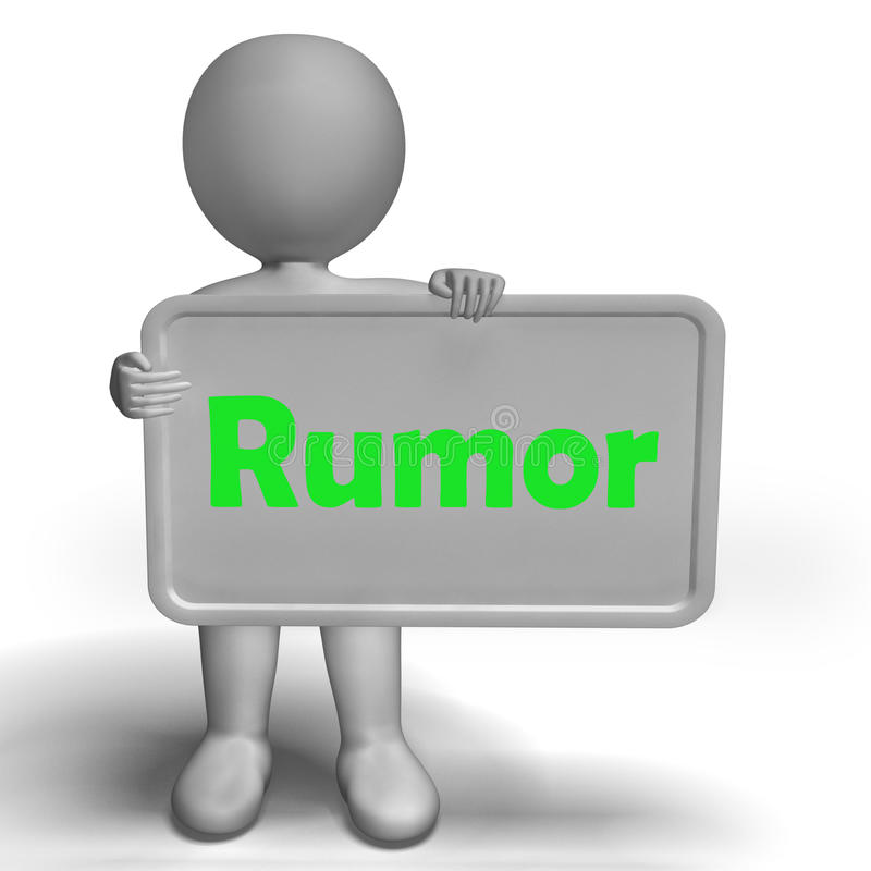 谣言传播错误信息的标志手段 库存例证