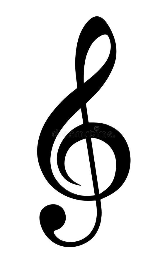 谱号例证高音向量 皇族释放例证