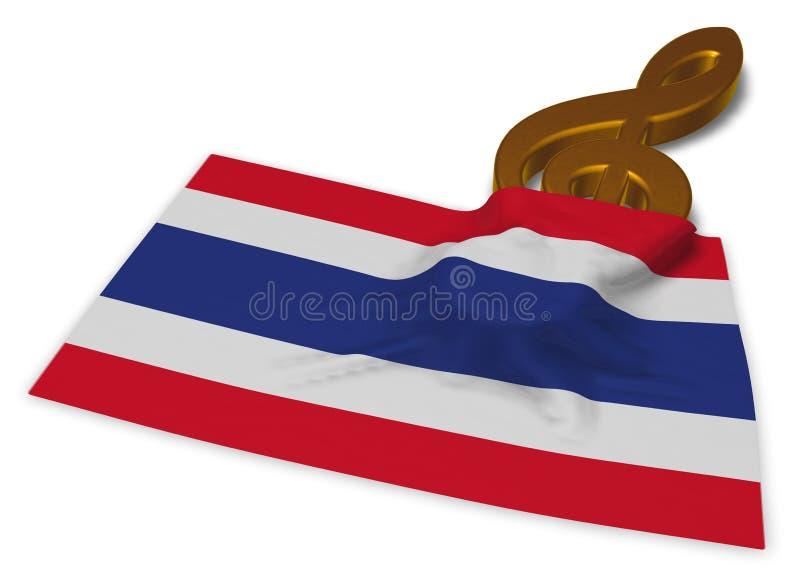 谱号标志泰国的标志和旗子 向量例证
