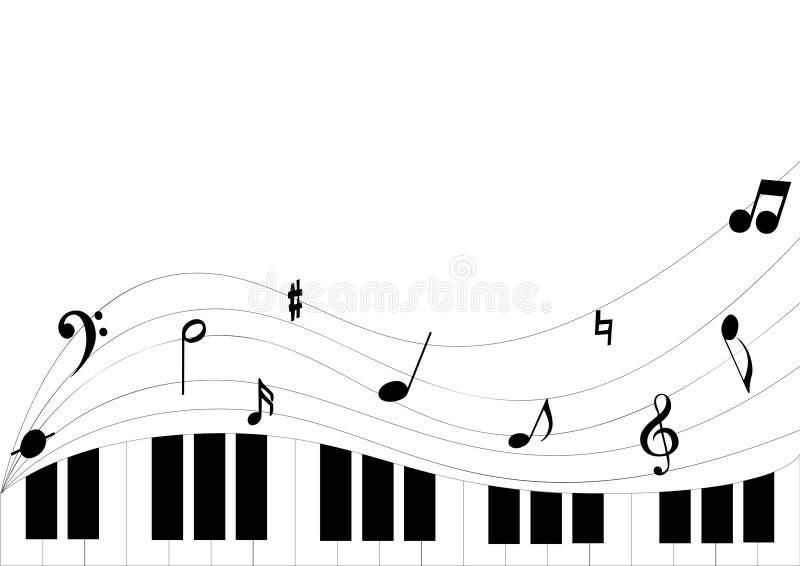 谱号钢琴 皇族释放例证