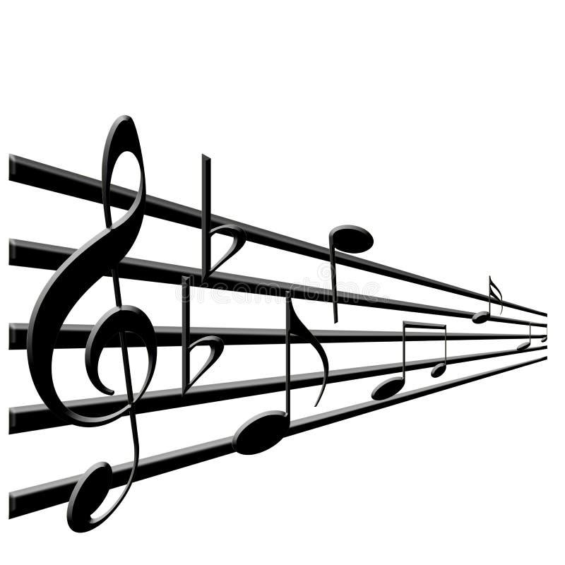 谱号音乐注意高音 向量例证