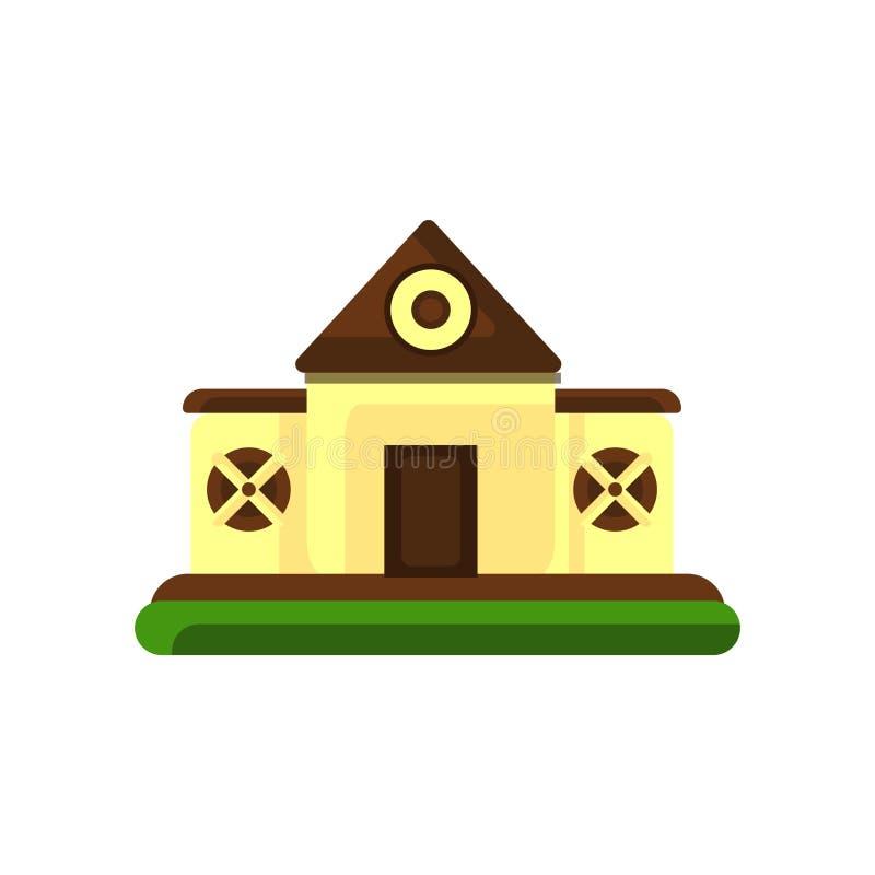 谷仓在白色背景隔绝的象传染媒介,谷仓标志,五颜六色的标志 向量例证