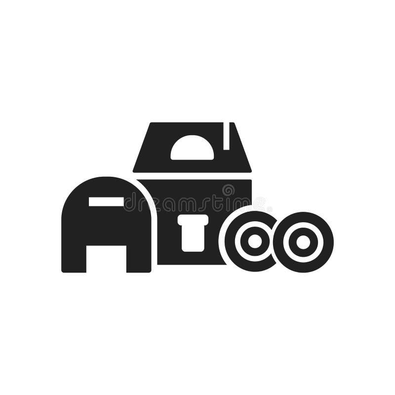 谷仓在白色背景隔绝的象传染媒介,谷仓标志,农场 库存例证