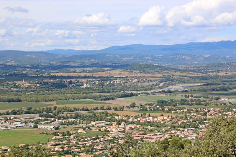 谷在法国阿尔卑斯 库存照片