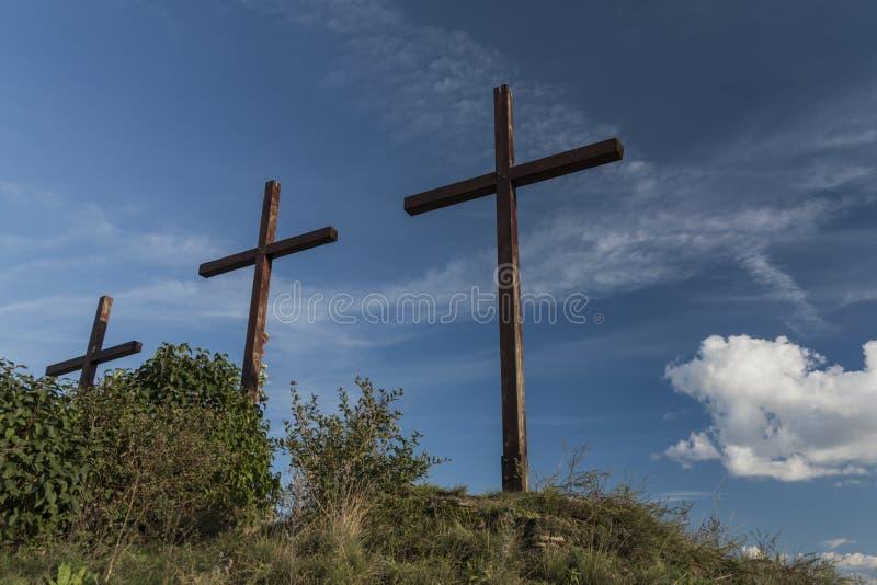 谷在波尔塔Bohemica附近劈裂Labe 免版税库存照片