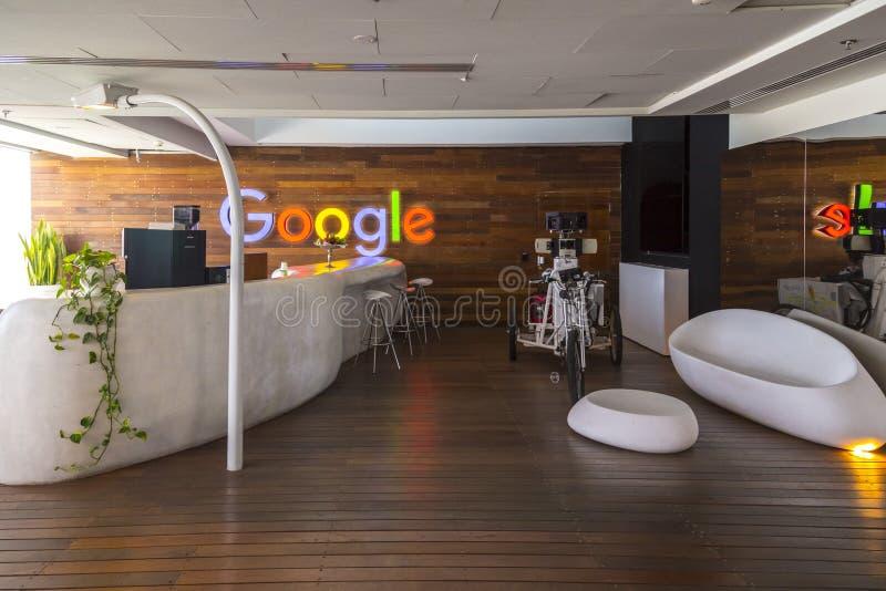 谷歌办公室特拉维夫,以色列 免版税库存照片