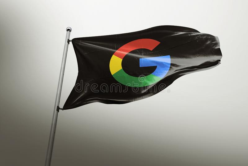 谷歌照片拟真的旗子社论 向量例证