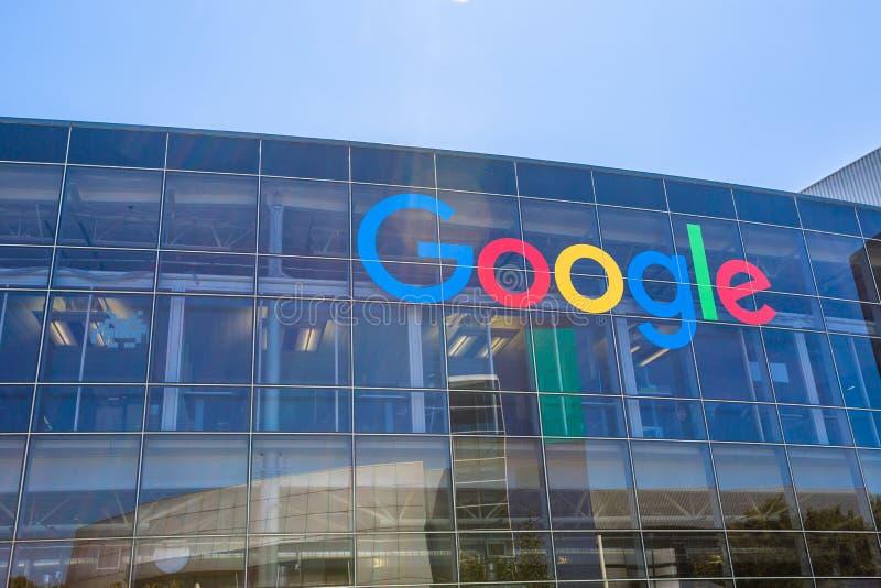 谷歌象标志 免版税库存照片