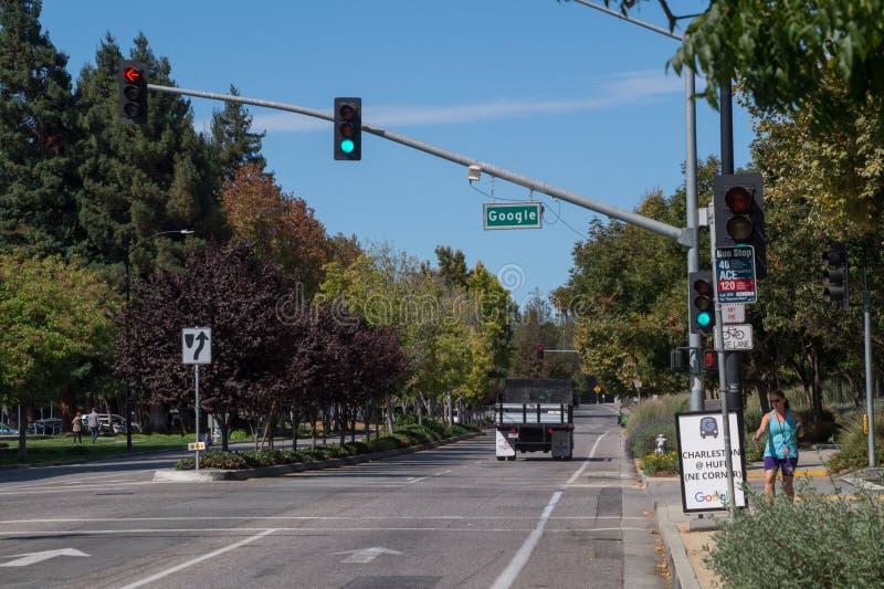 谷歌驱动,加利福尼亚,美国 免版税库存照片