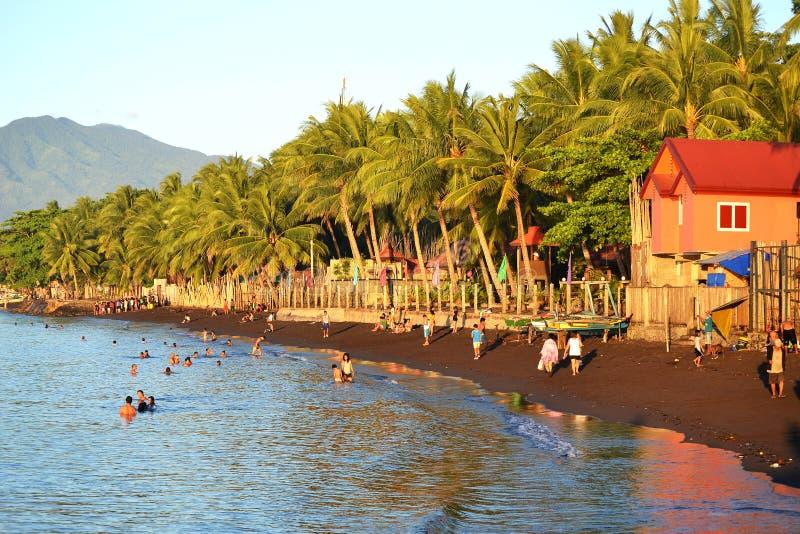 谷海滩在达沃市 免版税库存照片
