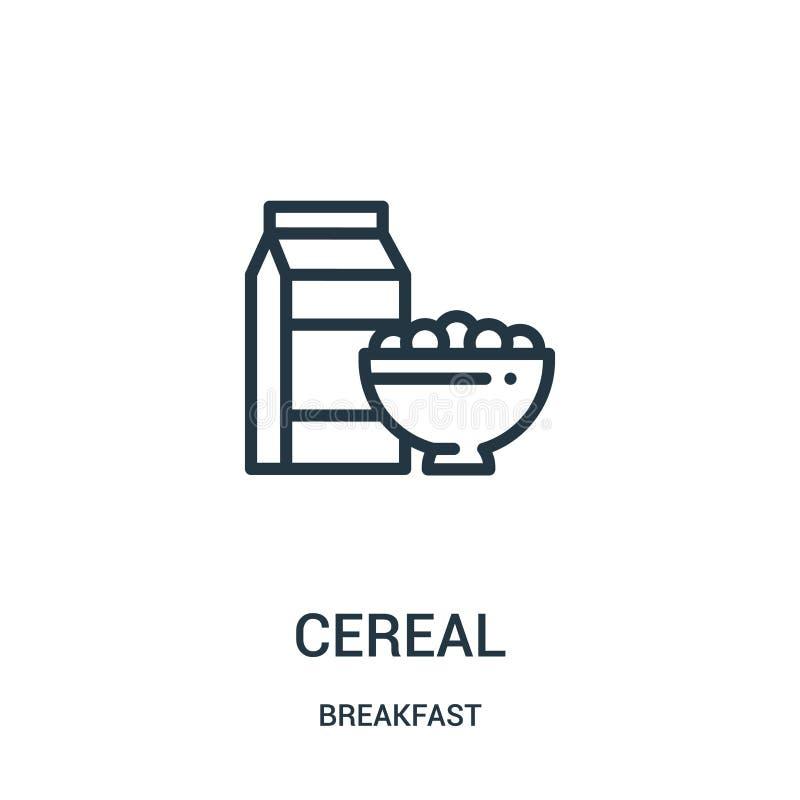 谷物从早餐汇集的象传染媒介 稀薄的线谷物概述象传染媒介例证 皇族释放例证