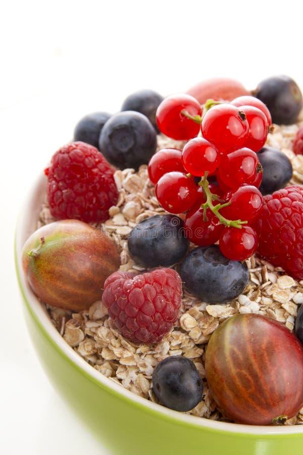 谷物用新鲜水果 免版税库存照片