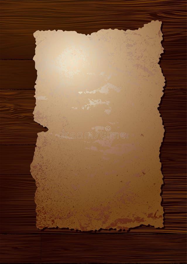 谷物羊皮纸木头 皇族释放例证