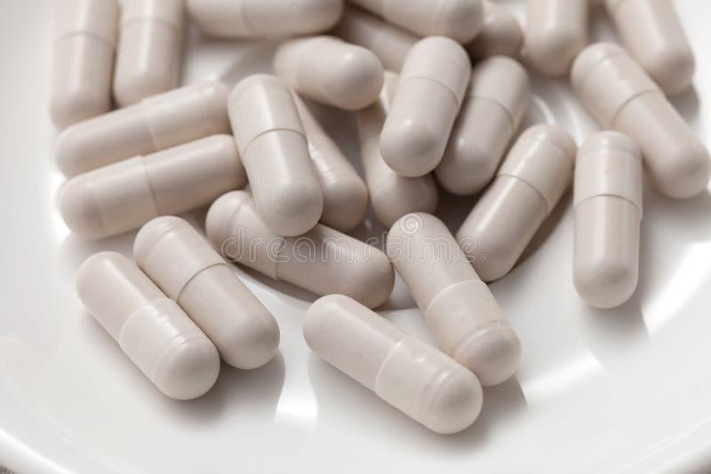 谷胱甘肽补充抗氧剂静物画 库存照片
