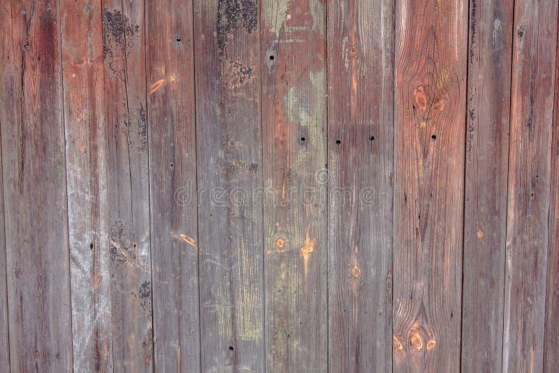 谷仓木墙壁铺板宽纹理 老实体木材板条土气破旧的水平的背景 绘被剥皮的脏的Weathered是 免版税库存照片