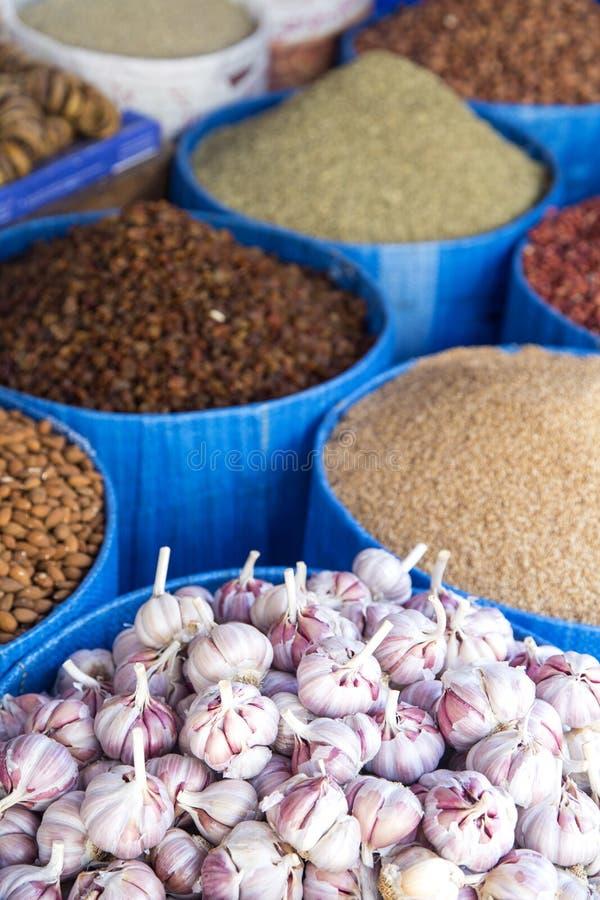 谷类食物细节在市场上的 免版税库存图片