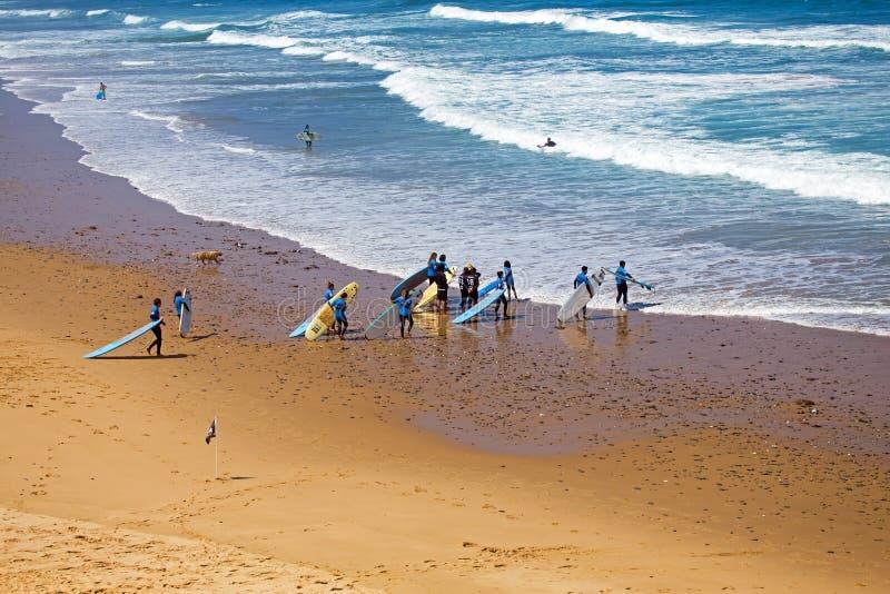 谷FIGUEIRAS,葡萄牙- 2018年7月19日:从冲浪者ge的天线 免版税库存图片