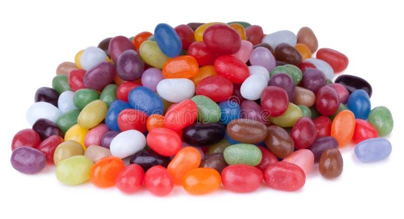 豆五颜六色的果冻 免版税库存图片