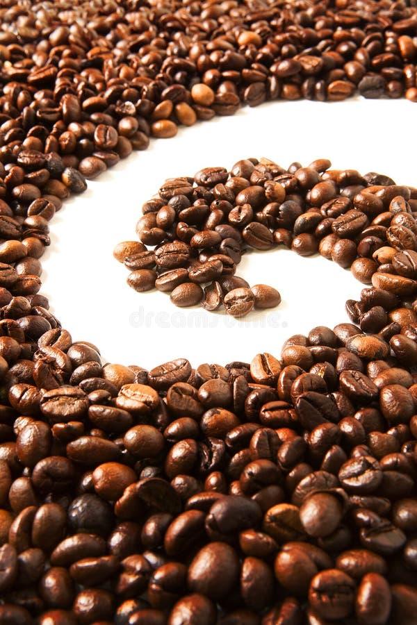 豆咖啡做的形状通知 库存照片