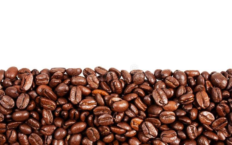 豆咖啡复制烤空间顶层 免版税库存图片