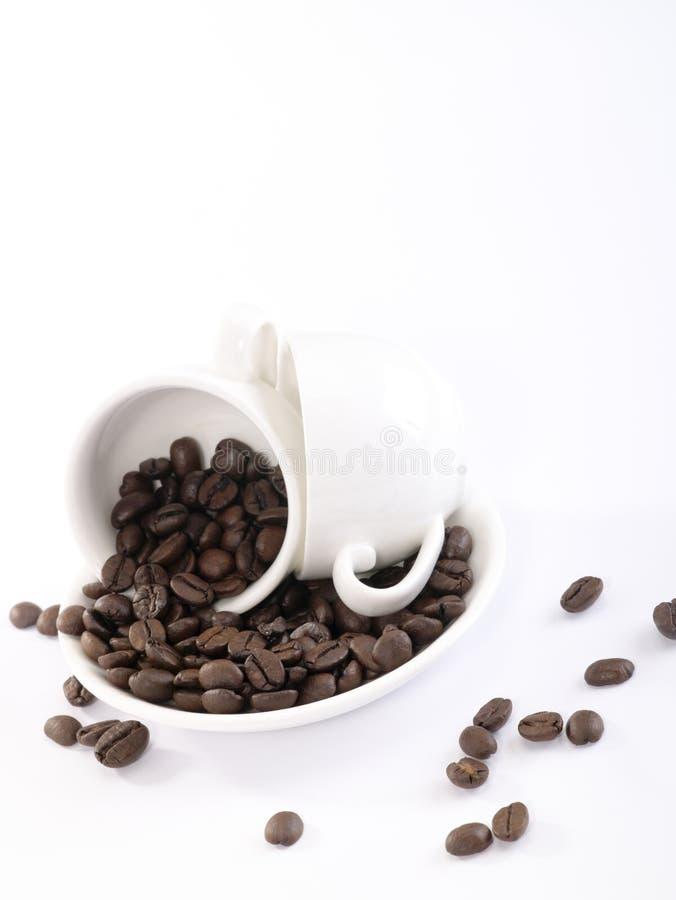 豆咖啡杯子板二 免版税库存图片