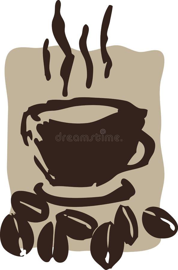 豆咖啡 皇族释放例证