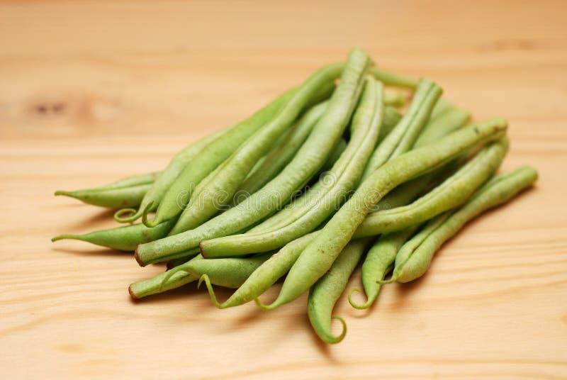 豆法国表面木 免版税库存图片