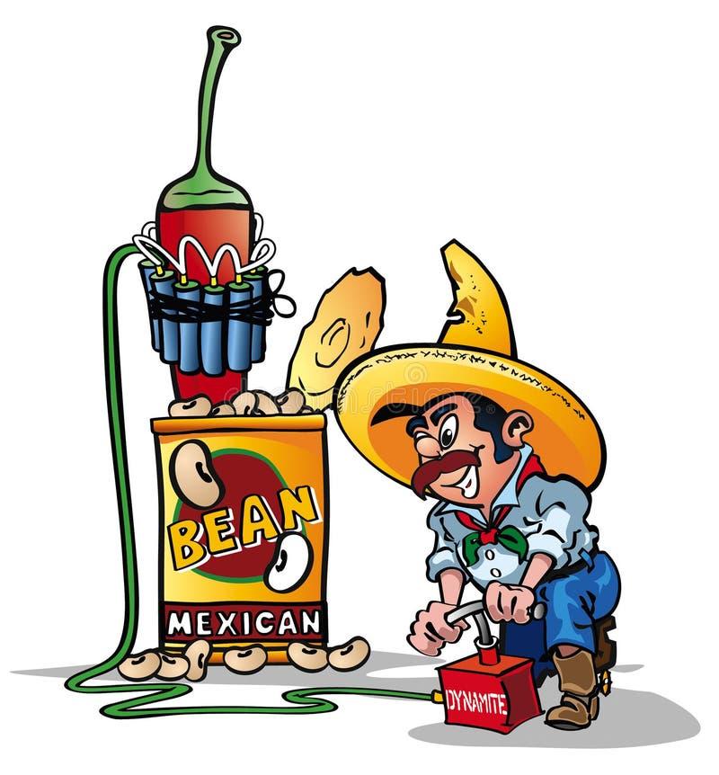 豆炸药墨西哥 免版税图库摄影