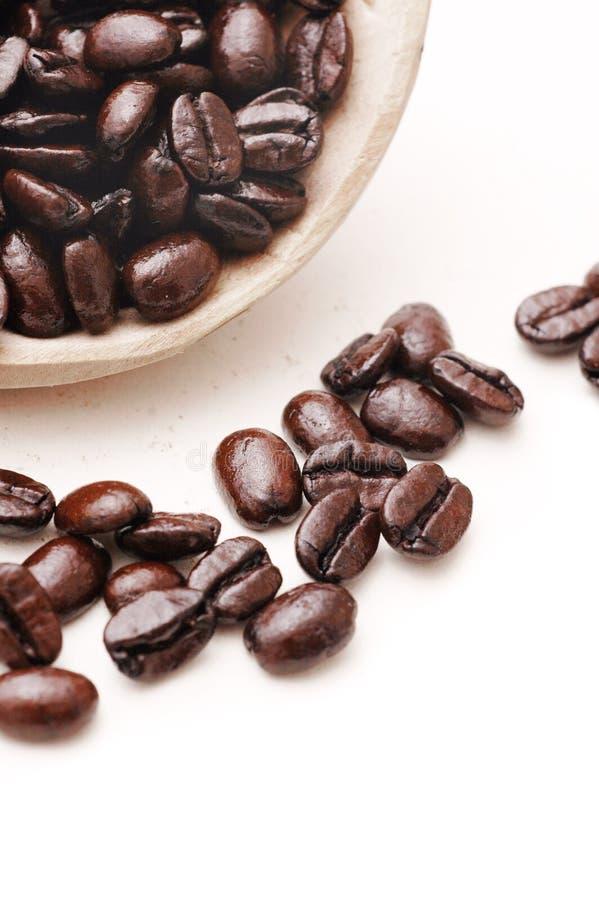豆碗咖啡 免版税图库摄影