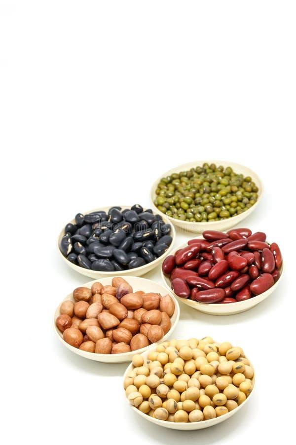 豆类白色背景 库存照片