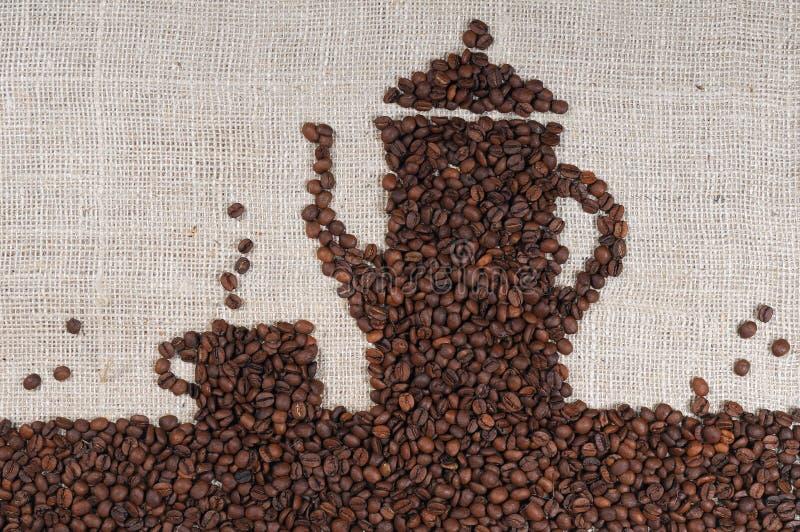 豆粗麻布咖啡 免版税图库摄影