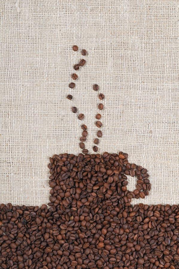 豆粗麻布咖啡 免版税库存图片
