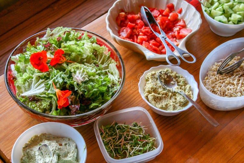 豆红萝卜花椰菜食物自然字符串蔬菜 免版税库存照片
