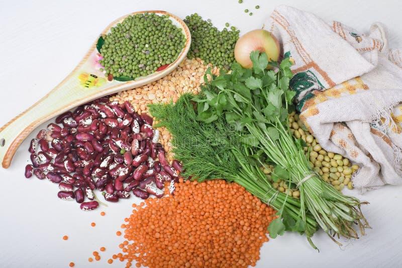 豆绿色混合 库存照片