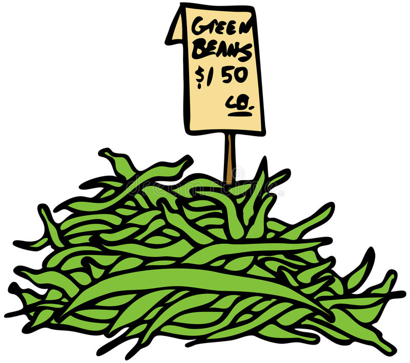 豆绿色 库存例证