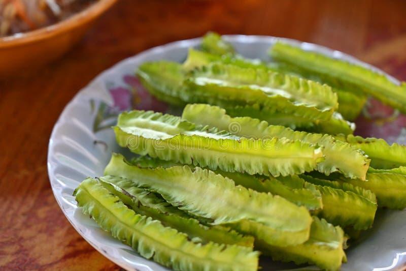 豆翅,当地蔬菜,泰国 库存图片