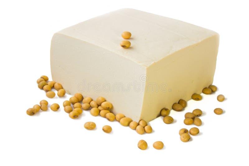 豆腐和大豆。 免版税图库摄影